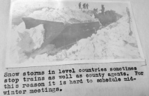 Snow storm from 1918 proved to make extension work difficult!