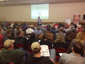 Approximately 130-140 participants gathered for the first Farmers & Ranchers College program for the 2014-15 season.