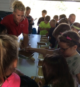 Students from area schools learned about Nebraska's number one industry, agriculture through hands-on learning.  Youth were actively engaged in hands-on activities such as Great Grains, which showed youth the types of grains grown in Nebraska, in addition to products that we use everyday produced from grains.